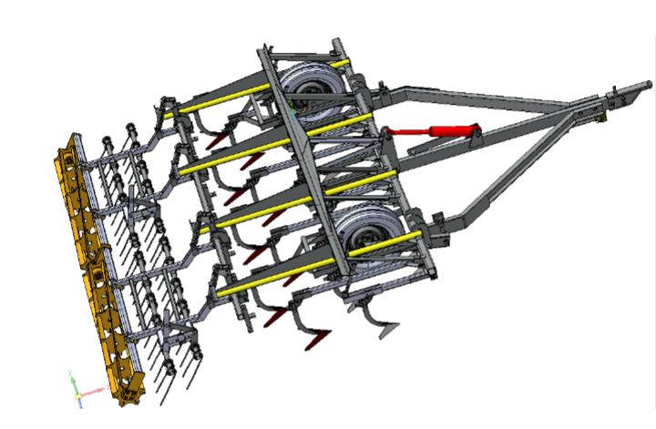Культиватор прицепной сплошной обработки почвы КПС-4У-01